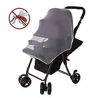 【2点セット】ベビーカー蚊帳 虫除け 日よけネット 蚊/モスなど防虫 通気 ベビーカー用