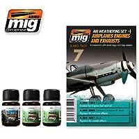 AmmoのMig Jimenez飛行機エンジンとExhaustsセット3 Jars 35 ml # 7420