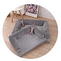 暖かい冬の犬のペットのソファの犬のベッドの猫のごみコーデュロイペットのペットマットペットの,赤+マット,90*70*20