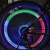 Nice Days(ナイス ディズ)  自転車 ホイール タイヤ バルブキャップ ネオンLEDライト ランプ 安全 1ペア
