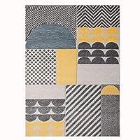 ALG-カーペット エリアラグ ノルディック ポリプロピレンクレープ 洗える 寝室 ベッドサイドマット、 1.4センチメートル 3サイズ 6幾何学模様 (色 : E, サイズ さいず : 240×340cm)