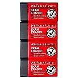 [ Pack of 4] Faber - Castell消しゴムExam Grade Excellent Erasing Break Resistant Dust Rolls Together (