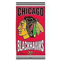 NHL Chicago Blackhawks Fiber Reactiveビーチタオル