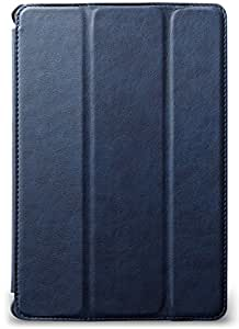 JISONCASE & your case iPad mini 4 ヴィンテージ PUレザー ケース 【VINTAGE】 (iPad mini 4, ネイビーブルー)