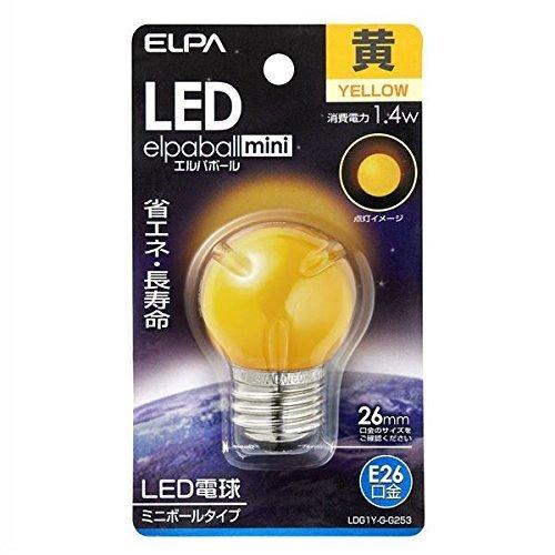 ELPA LED電球G40形E26 朝日電器 【品番】LDG1Y-G-G253