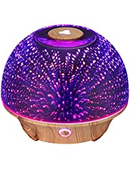 VicTsing Essential Oil Diffuser, 200ml 3D Effect Ultrasonic Aromatherapy Oil Humidifier with Starburst Fireworks...
