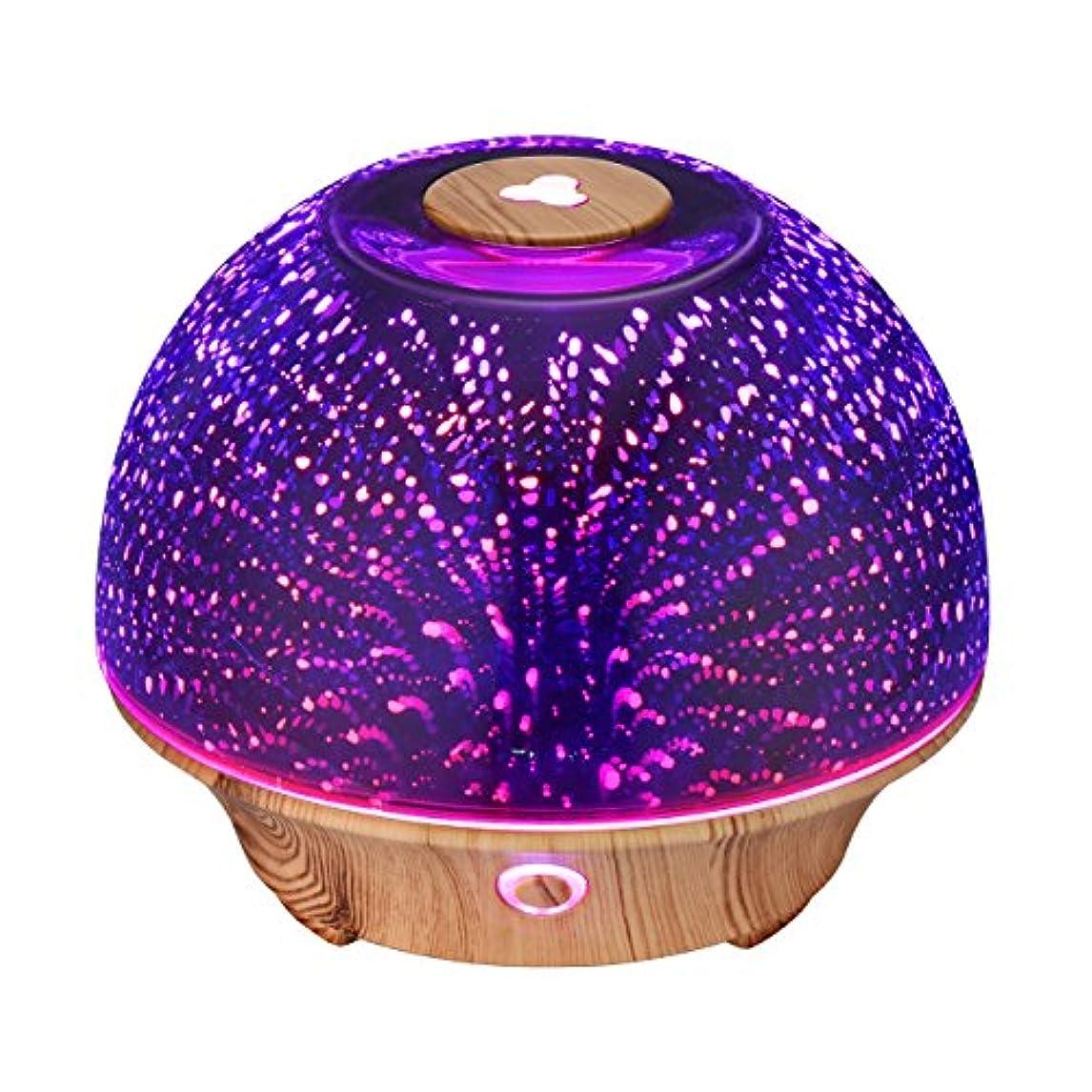 蜂不潔敏感なVicTsing Essential Oil Diffuser, 200ml 3D Effect Ultrasonic Aromatherapy Oil Humidifier with Starburst Fireworks...