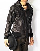 (リピード) REPIDO レザージャケット メンズ ライダース ジャケット ブルゾン 革 ライダースジャケット パーカー レザーパーカー PUレザー