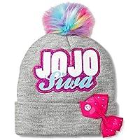 Girls JoJo Siwa Rainbow Pom Pom Beanie Hat
