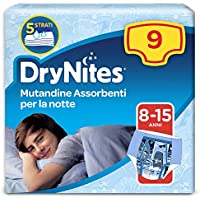 Huggies DryNites Pyjama Pants, Boys, Size 8-15 Years (9 Pack)