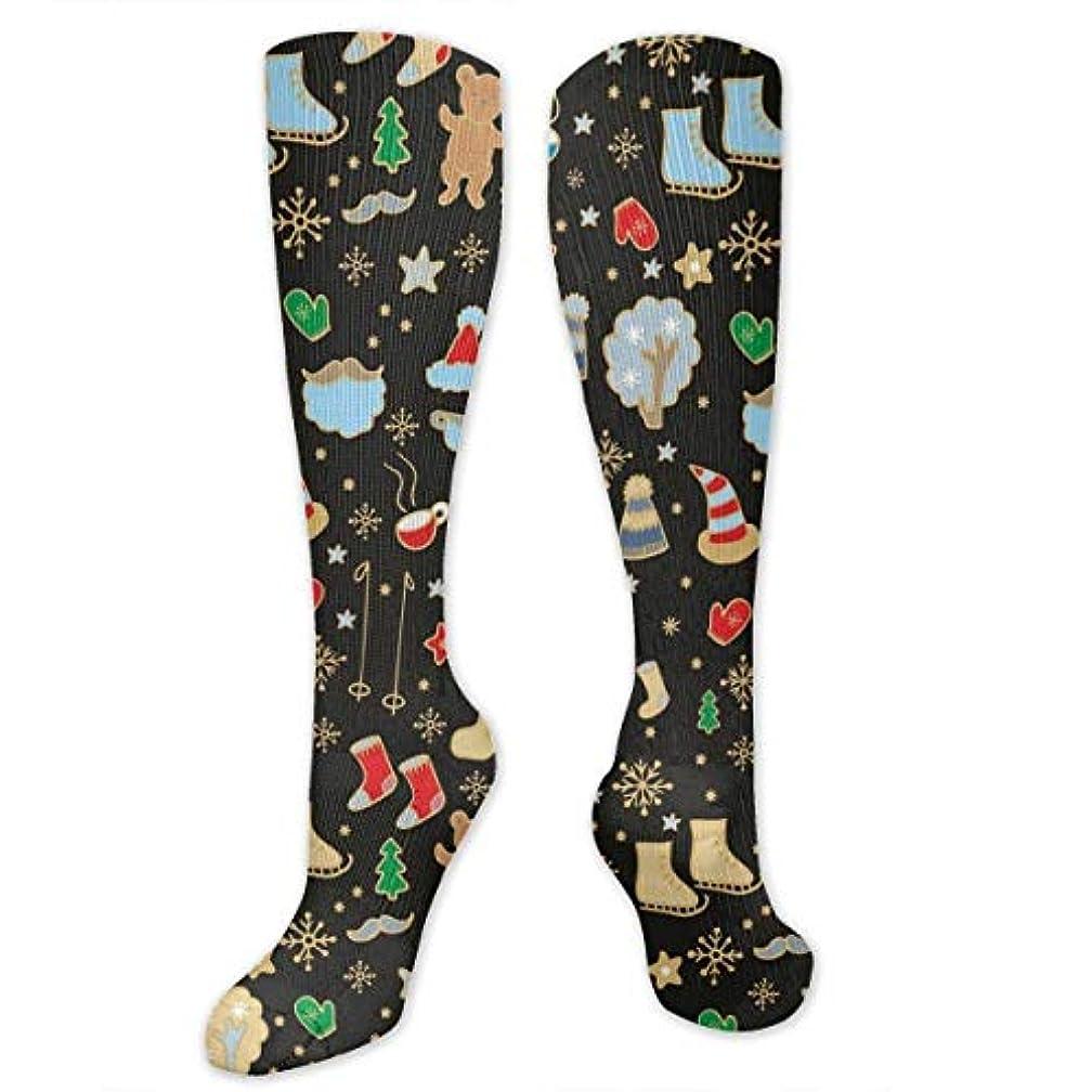 染色マーキー増強靴下,ストッキング,野生のジョーカー,実際,秋の本質,冬必須,サマーウェア&RBXAA Christmas Time Socks Women's Winter Cotton Long Tube Socks Knee High...