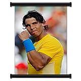 Rafael Nadal International Tennis Playerファブリック壁スクロールポスター( 32