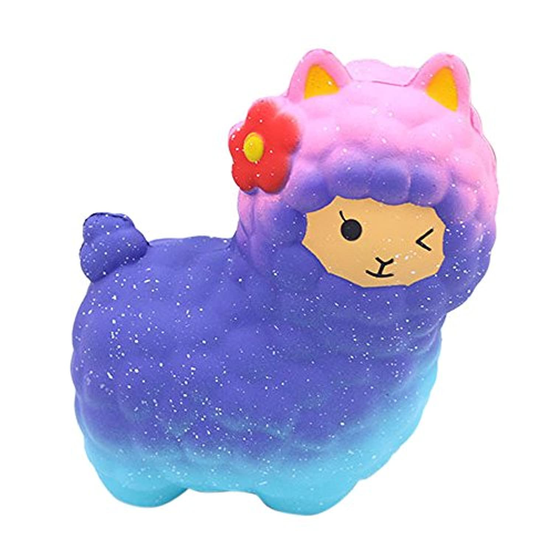 ジャンボSheep SquishyかわいいアルパカGalaxy Slow Rising香りつき楽しい動物おもちゃ