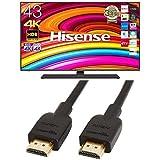 ハイセンス 43V型 4K 液晶テレビ BS/CS 4Kチューナー内蔵 レグザエンジンNEO搭載 43A6800 (HDMIケーブル(1.8m) 付)