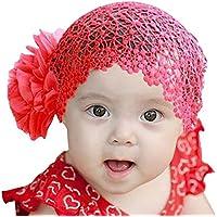 wlgreatsp スウィーティー1PC 赤ん坊の幼児の少女 幼児の快適なかわいいかわいい ヘア弓アクセサリー ヘッドウェアソフト ビッグフラワー レース