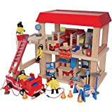 CP Toys Complete木製Firehouseプレイセットfor Kids