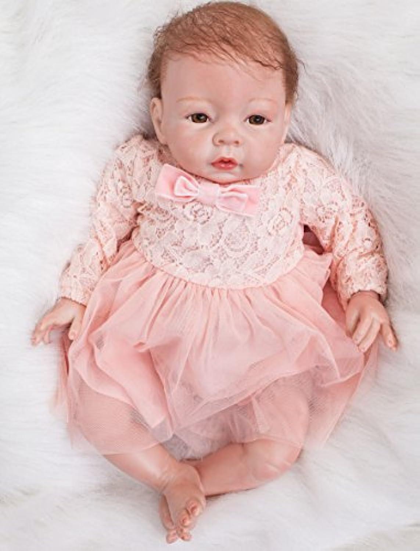 oumeinuo 22 in Handmade Lifelikeガールズベビー人形Reborn新生児人形Siliconeビニール人形+ピンクスカート、重量about 1650 g