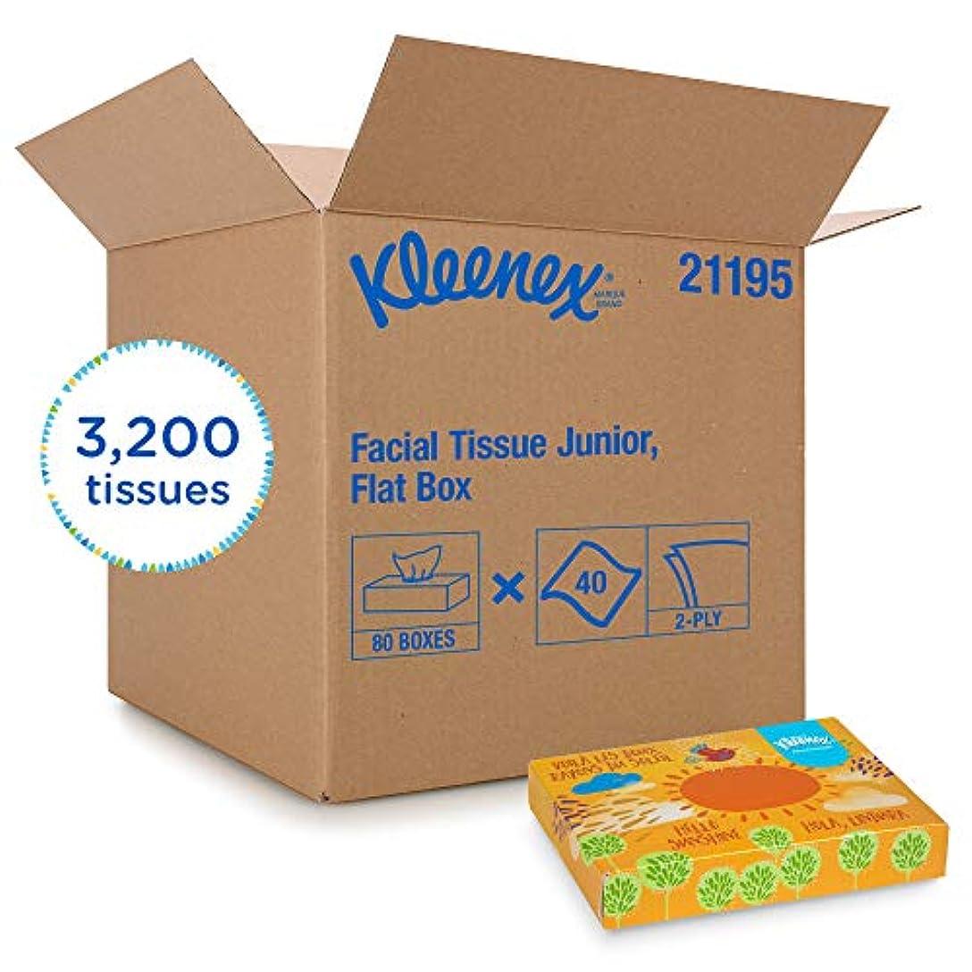 これらきらきらKleenex Professional Facial Tissue forビジネス(21195 )、フラットティッシュボックス、80 Juniorティッシュボックス/ケース、40 /ボックス