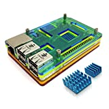 Eleduino Raspberry Pi 3 /Raspberry Pi 2 Mutli Color アクリル ケース Case +Heatsink Kit