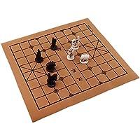 Baoblaze ヴィンテージ 中国 伝統的 チェス 樹脂 テラコッタの戦士 チェスピース 折り畳み式 チェス盤 手芸品