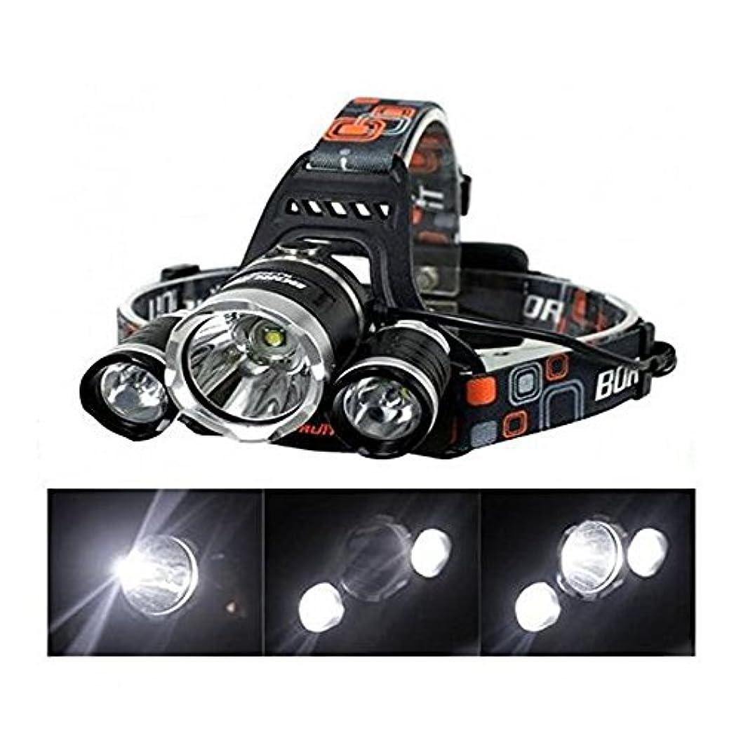 不調和すみません品種1stモール アウトドア キャンプ 多機能 ヘッドライト LEDライト 防水超強力 5000LM 4点灯モード 登山 夜釣り ST-CYUBEREI