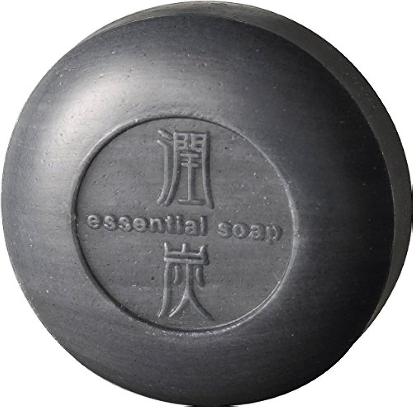 広々とした火薬シャーアクアライフ 潤炭シャンプー石鹸 [100g]