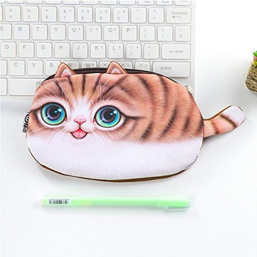 Romote ペンケース 大容量 かわいい 猫文房具 化粧バック 小物入れ 文具ケース 持ち運び 収納ポーチ ケース多機能