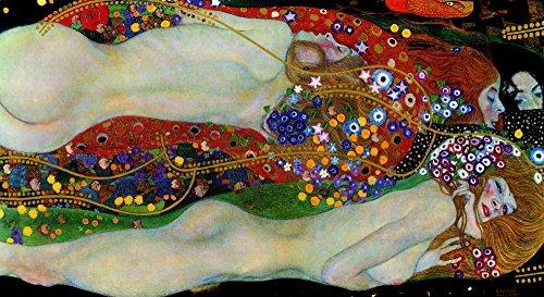 絵画風 壁紙ポスター (はがせるシール式) グスタフ・クリムト 水蛇 II 1907年 Water Snakes II プライベートコレクション キャラクロ K-KLT-010S2 (603mm×328mm) 建築用壁紙+耐候性塗料