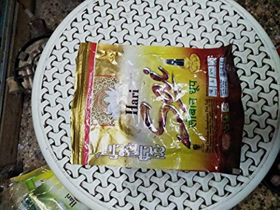 裂け目ラフ睡眠情緒的Sribalaji Trader Hari Sai Loban Dhoop (Pkt-1)