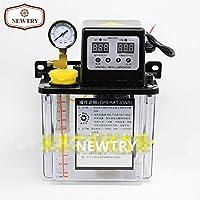 NEWTRY Automatic Digital Numerical Control Lubricant Pump Automatic Lubricating Oil Pump Cnc Electromagnetic Lubrication Pump Lubricator (220V, 1.8L)