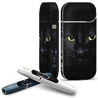 iQOS COMPLETE アイコス 専用スキンシール 全面セット サイド ボタン スマコレ チャージャー カバー ケース デコ アニマル 写真 猫 ねこ 006447