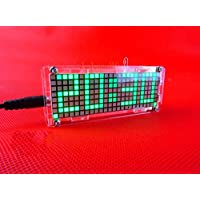 mazimark -- DIY電子MicrocontrollerマトリックスLEDデジタルクロック時計時間温度計