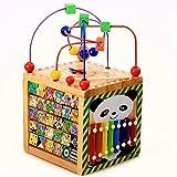 Wishtime 6in1あそび箱 よくばりボックス マルチプレイセット 木のおもちゃ 子供 幼児 知育玩具(誕生祝い、こどもの日)