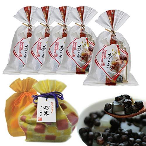 伊豆河童 豆てん あんみつ 5個セット 巾着入り 和スイーツ 餡蜜 ギフト 北海道産 赤えんどう豆使用