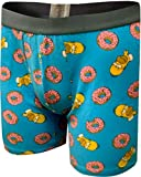Underboss Men's Homer Simpson Loves His Donuts Boxer Briefs (X-Large)