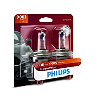 Philips 9003 X-tremeVision Upgraded Headlight Bulb with up to 100% More Vision%カンマ% 2 Pack [並行輸入品]