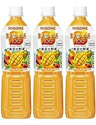 カゴメ 野菜生活100 マンゴーサラダ スマートPET 720ml×3本