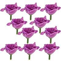 多色選べる 高品質 人工バラ 花の頭 10個 花束 ホーム パーティー 結婚式 花輪 装飾 - #9
