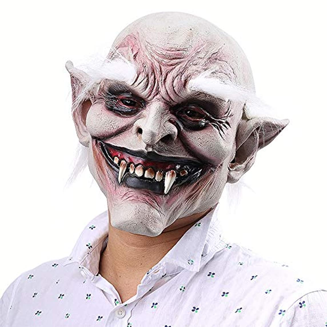 オアシス技術的なパンサー白閲覧古鬼ハロウィンホラー悪魔マスク吸血鬼対外貿易お化け屋敷ドレッシング小道具ラテックスフード