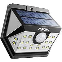 Mpow センサーライト ソーラーライト 20led センサー時間30s 屋外照明 防水 人感ライト自動点灯 玄関 庭 駐車場 18ヶ月間安心保証 停電防災緊急対策