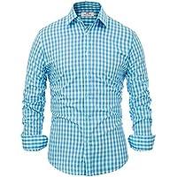 Paul Jones Casual Plaid Dress Shirts for Men Checkered Button Down Shirt CL6299