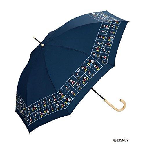 w.p.c(w.p.c) 【長傘】【ディズニー】ディズニー/パネル(雨傘/レディース)【ネイビー/55】