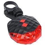 ColorGo 自転車ライト バイク ライト 2赤ライン ビーム 5 LEDリフレクター リア用 セーフティライト テールライト 夜道安全
