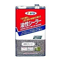 アサヒペン 油性シーラー 4L 透明(クリヤ) 【まとめ買い3缶セット】