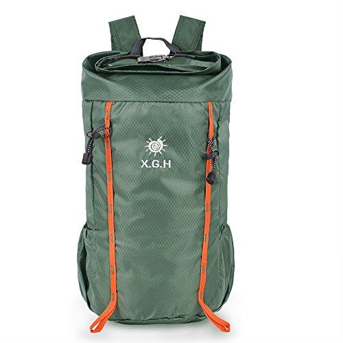VBIGER 25L 登山リュック アウトドアバックパック 折りたたみ リュックサック アルパインパック 超軽量 防水 ポケッタブル バッグ アウトドア 旅行用 (アーミーグリーン)