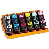 エプソン用 KUI 互換 ( クマノミ 互換 ) インクカートリッジ6色セット インク増量サイズ 対応機種:EP-879AB / 879AW / 879AR / 880AW / 880AB / 880AR / 880AN ヨコハマトナーオリジナル