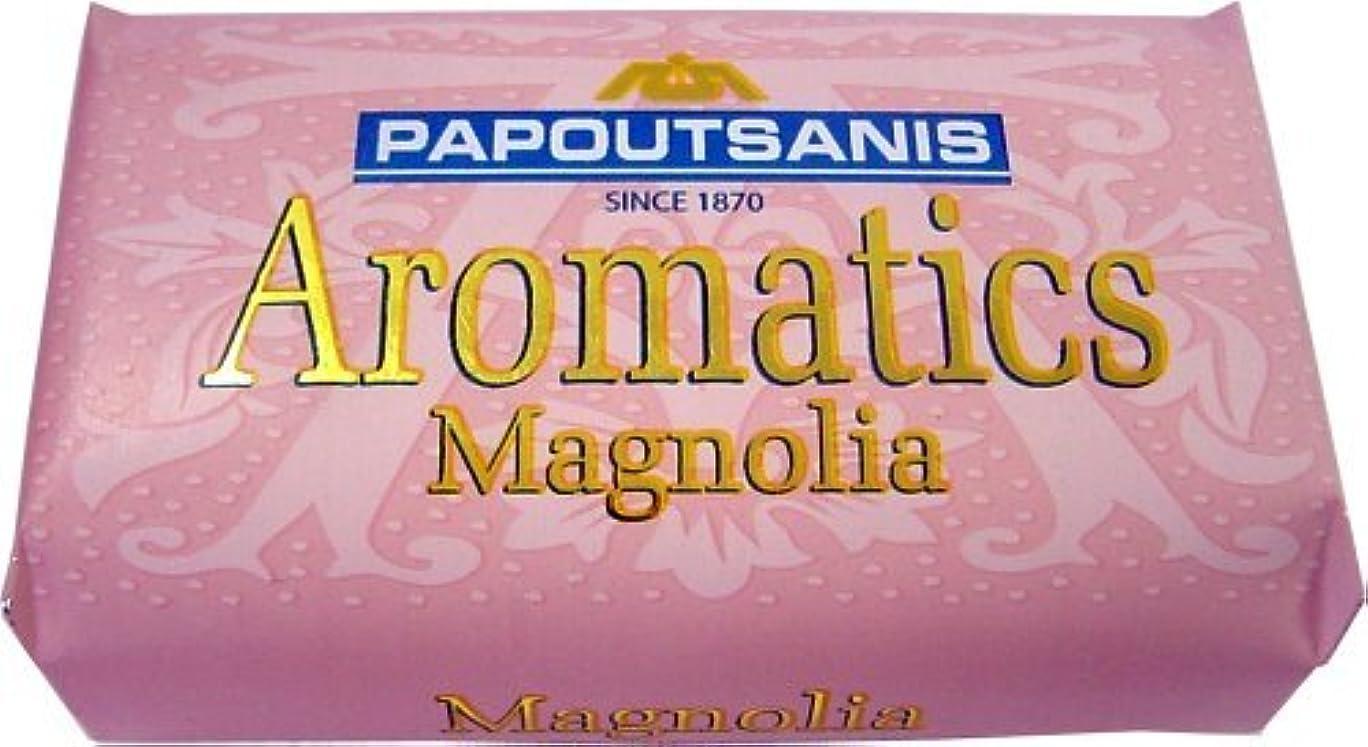日付注意ほのめかすPapoutsanis 4パック - ギリシャソープ - アロマ - マグノリア