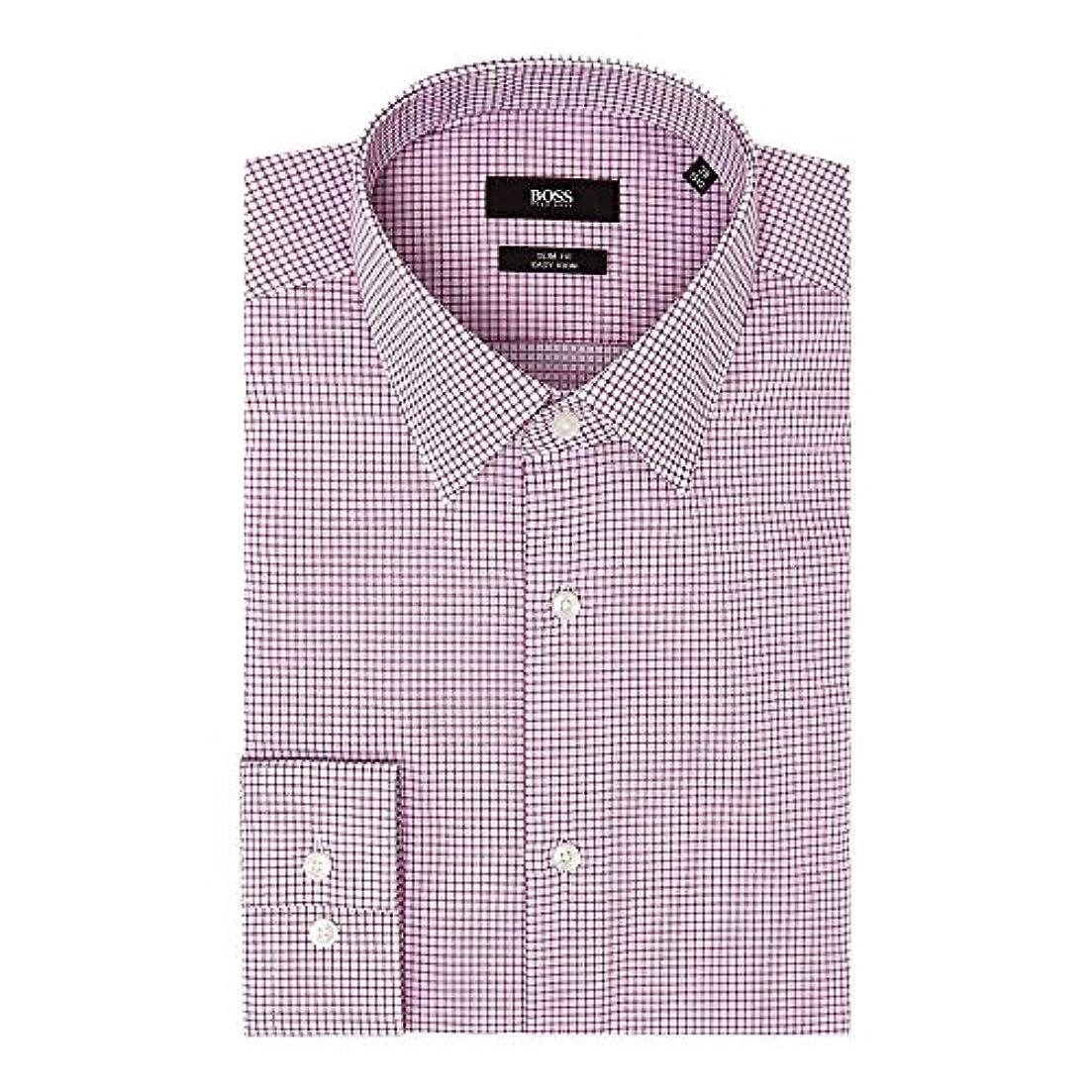 毛皮尽きる百年(ヒューゴ ボス) Hugo Boss メンズ トップス シャツ Isko Slim Micro Grid Check Shirt [並行輸入品]