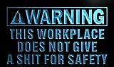 Amazon.co.jpLED看板 ネオンプレート サイン 電飾・店舗看板・標識・サイン カフェ バー ADV PRO n090-b Warning This Workplace is not Safe Neon Sign
