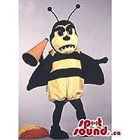 メガホンとカスタマイズ黄色と黒のビーマスコットSpotSoundカナダ